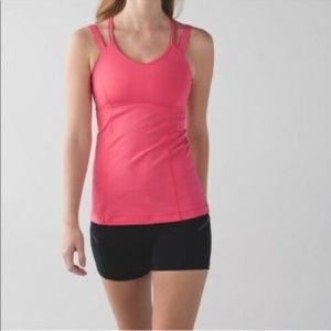 Lululemon Happy Strappy Tank Luxtreme Coral-4